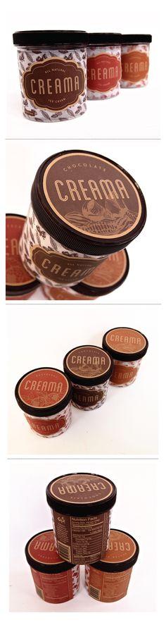 Creama Ice Cream Identity and Packaging Design on Behance