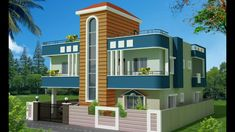 Awesome House Plans: 35 x 36 east face duplex house plan with front elevation design House Roof Design, Two Story House Design, 2 Storey House Design, Duplex House Design, Simple House Design, Duplex House Plans, Bungalow House Plans, Front Elevation Designs, House Elevation