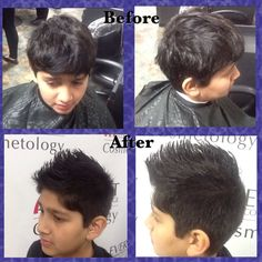 Fohawk haircut I did on 3/14/16 I used a number 4 guard and did a medium fade and used shears on the top. I styled his hair using Sebastian texturizer and American Crew forming cream. #fohawk #cosmetologyschool #beautyschool #haircut