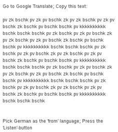 Google Translate beatbox. I totally need to try this.