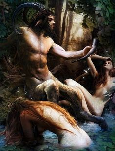 Satyr & Nymphs by W. Bouguereau