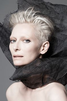 British actress Tilda Swinton will be the face of Nars' spring campaign. [Photo by Francois Nars]
