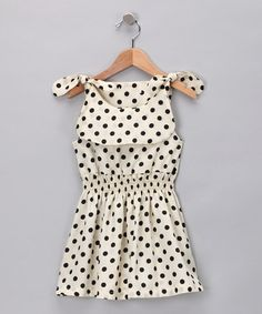 Take a look at this Black & White Polka Dot Clover Dress - Toddler & Girls by POP Couture on #zulily today! #Fall