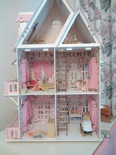 img-14 Toddler Bed, Miniatures, Bedroom, House Styles, Birthday, Furniture, Home Decor, Dollhouses, Homemade Home Decor