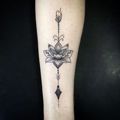 Tatuaje Flor De Loto Con Flecha Significado
