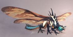 Dragonfly Dragon, Saki Yamamura on ArtStation at https://www.artstation.com/artwork/LNNxP