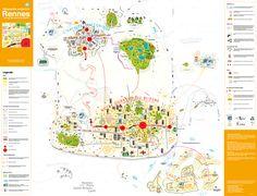 cartographie subjective participative - Rennes vue par des enfants