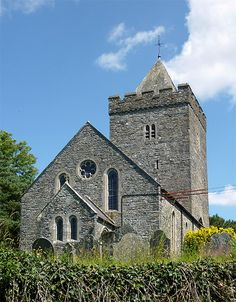 The Church of St. David, Llanddewi-Brefi, Ceredigion. The church has a particularly fine twelfth century Norman Tower. Much of the rest of the church had to be rebuilt in Victorian times. Several websites give details of Saint David's association with Llanddewi-Brefi.