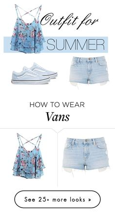 """Outfit for summer"" by croenva on Polyvore featuring WithChic, Topshop, Vans and country"