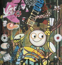 Ophør. Peter Rössells 'Falling Up' er fra året, han holdt helt op med at male. Sådan et vendepunkt kan være en af grundene til at en kunstner foretrækker at beholde værket. - Foto: Fra kataloget (udsnit)