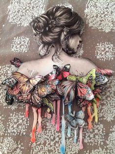 kelebek folyo desenleri | Kelebekli rölyef çalışmam: Kelebekli Rölyef, Kağıt Rölyef ...