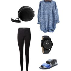 dine with family by inggar on Polyvore featuring polyvore fashion style J Brand Ateljé 71 Linea Pelle Rockwell Time