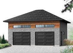 1000 images about garage on pinterest garage garage for Hip roof garage plans