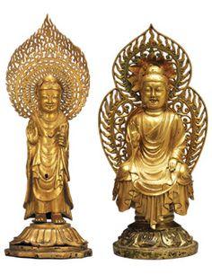 Buddha and Amitabha Buddha, Unified Silla Dynasty, Gold, Metropolitan Museum of Art