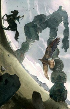 [ Shadow of the Colossus ワンダと巨像 ] Water colour illustration by Chad Gowey