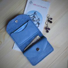 Купить Кошелёк кожаный женский Голубой кошелек кожа Кожаный маленький кошелек - кошелек из кожи