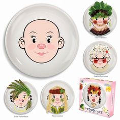 Food Face girl by #Fred from www.kidsdinge.com