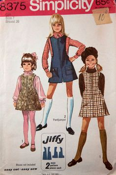 1960s gilrs jiffy jumper Simplicity 8375 by RavensNestPatterns