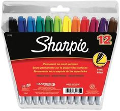 Save On Discount Sharpie Fine Point Permanent Marker Set of Assorted Colors & More Permanent Markers / Pens at Utrecht Utrecht, Sharpie Pens, Sharpies, Permanent Marker, Quick Dry, Colored Pencils, Markers, Sewing Crafts, Alcohol