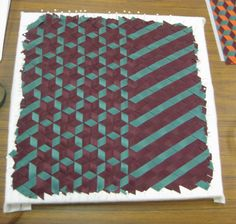 Triaxial Weaving – I Love You - third piece 2 - Patchwork Quilting, Quilting Tips, Quilts, Fabric Crafts, Sewing Crafts, Sewing Projects, Art Projects, Weaving Patterns, Quilt Patterns