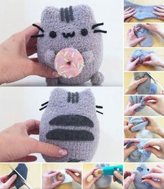 25 Easy DIY Sock Plushies and Animals You'll Want to Make this Weekend Diy Crafts For Girls, Diy Crafts Hacks, Easy Diy Crafts, Cute Crafts, Creative Crafts, Diys, Sock Crafts, Felt Crafts, Sewing Crafts
