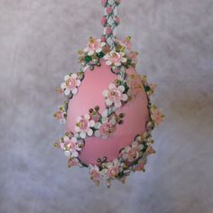 Beaded Easter Ornament Kit Meadow by Glimmertree on Etsy, $15.25