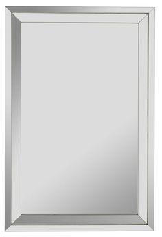 "Cooper Classics 40238 Paula 36"" X 24"" Rectangular Wall Mirror Silver Home Decor Mirrors Lighting"