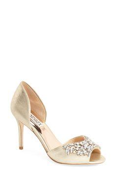 Badgley Mischka Badgley Mischka  Candance  Crystal Embellished d Orsay Pump  (Women) available at. Av S · Bridal shoes 312e761e8791