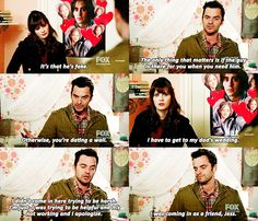 Aw Nick! We love you.... #NewGirl Season 4
