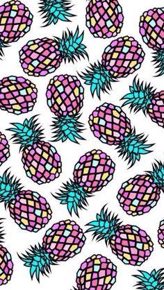 Hippe ananasjes achtergrond
