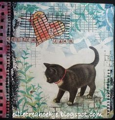 Paper - Stamps - Color: Art Journalpage - my favorite pet - mijn favoriete huisdier