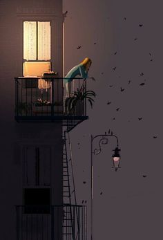 Smoking in the night #illustrations