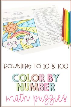 Color By Number (or Color By Code) Rounding to 10 and 100 - The Owl Teacher Teaching Social Studies, Teaching Writing, Teaching Science, Teaching Tips, Elementary Science Classroom, Upper Elementary Resources, Math Classroom, Teacher Lesson Plans, Teacher Resources