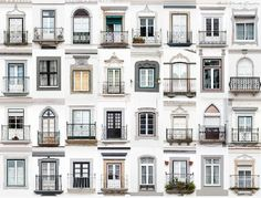 montemor-o-novo, portugal: andre goncalves' 'windows of the world' and 'doors of the world' series highlight the culture and community of a place through architectural photography. Balcon Juliette, Classic House Design, Design Exterior, Window Design, Vintage Home Decor, Furniture Vintage, Windows And Doors, Home Accents, Home Improvement