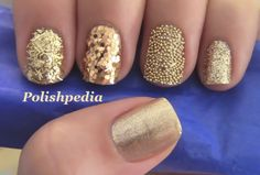 Love the different styles of gold glitter!!