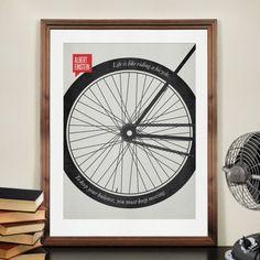 Bicycle Print Illustrative Quotations