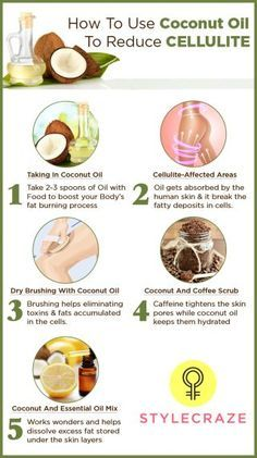 How To Use Coconut Oil To Reduce Cellulite