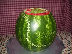 cute watermelon baseball filled with fruit