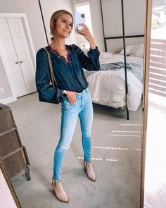 Cute Spring Outfits, Mom Outfits, Cute Outfits, Fashion Outfits, Lauren Kay Sims, Anniversary Outfit, Best Leather Jackets, Spanx Faux Leather Leggings, Just Girly Things
