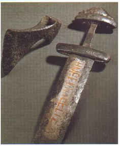 Viking sword and axe