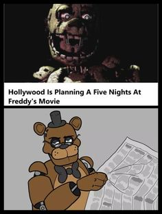 I say it wouldn't work why because there are so many unanswered questions and the Fandom is all theories plus there isn't really a head story for fnaf Scott conformed that what pops out of his head is put down on the computer he just randomly does things Fnaf Movie, Freddy S, Five Nights At Freddy's, Animatronic Fnaf, Fnaf Wallpapers, 2 Kind, Fnaf Sister Location, Pedobear, Black Butler Anime