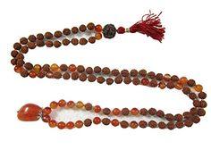 Yoga Energy Mala- Rudraksha Carnelian Stone Meditation Healing Mala Prayer Necklace Mogul Interior http://www.amazon.com/dp/B00P26H4LK/ref=cm_sw_r_pi_dp_Vuavub0GCWYB3