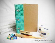 art scrap & more: alexandras Sunday scrapbook - Stamping on Canvas/Bookbinding