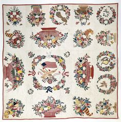 National Public Gardens Day is coming up on May 9th. Explore some of our floral-themed quilts, like this one from the 1850s.