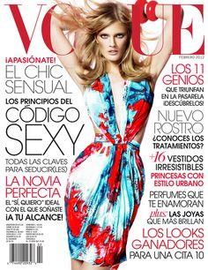 Vogue Latin America February 2012 Cover | Constance Jablonski by Jean-François Campos