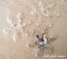 Snowflake Sequin Appliques {four dollars}