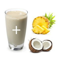 Made this for breakfast!  2 scoops IsaLean French Vanilla + 1/4 c. fresh pineapple + 1 tbsp coconut oil. #isagenix