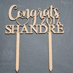 Wooden Congratulations Cake topper