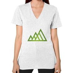 Mountains V-Neck (on woman) Shirt