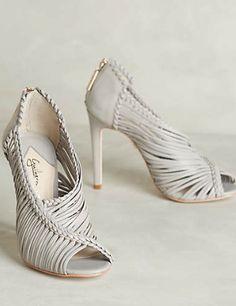 beautiful grey heels